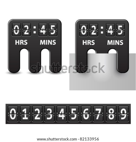 vector countdown attached mechanical timer - stock vector