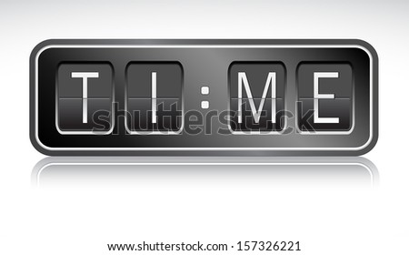 vector countdown timer - stock vector