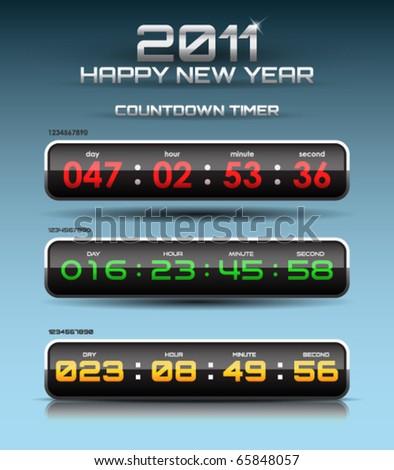 Vector countdown timer - stock vector