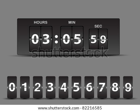 Vector countdown timer - easy change time