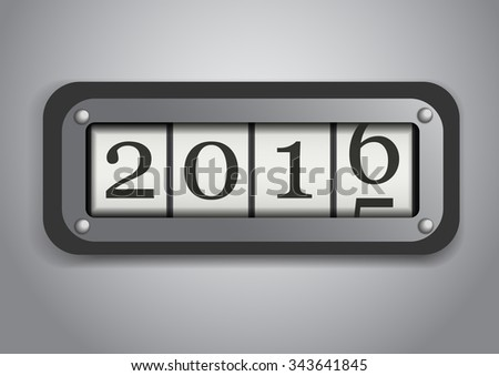 Vector : Counter roll 2015 to 2016 - stock vector
