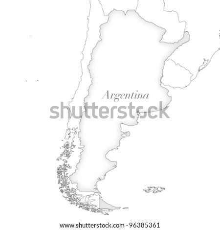 Vector country map of Argentina - stock vector