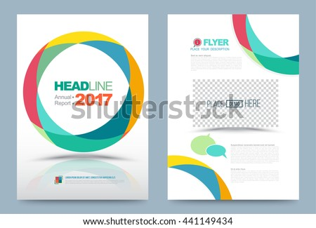 vector cover design template circle color style can use for flyer brochure annual