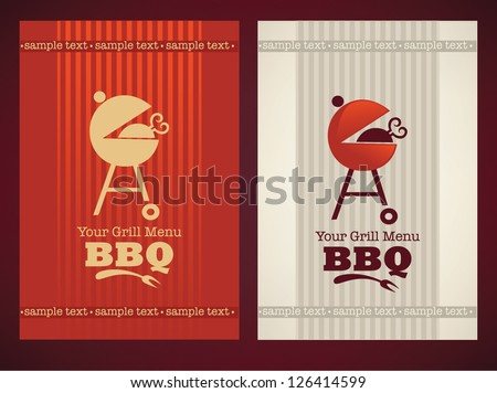 vector cover for your BBQ and grill menu - stock vector