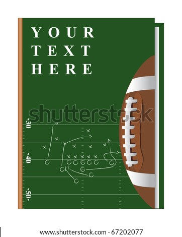 Vector cover of the book on the topic of football, can be implemented by a summary, playbook, etc. - stock vector