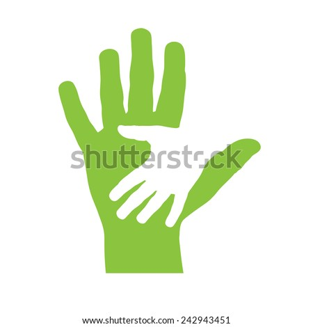 Vector cover two hands - stock vector