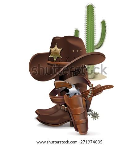 Vector Cowboy Concept - stock vector
