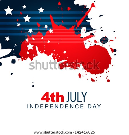 vector creative american independence day background design - stock vector