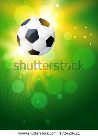 vector creative background of football illustration - stock vector