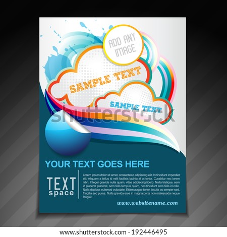 vector creative brochure flyer template illustration - stock vector