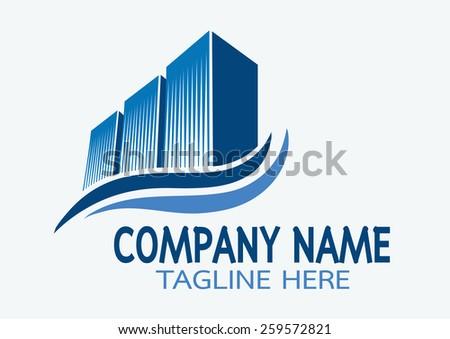 vector creative building construction,vector logo design template.- vector illustrator  - stock vector