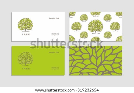 Vector creative business cards corporate identity stock vector vector creative business cards corporate identity sign symbol tree drawn by colourmoves