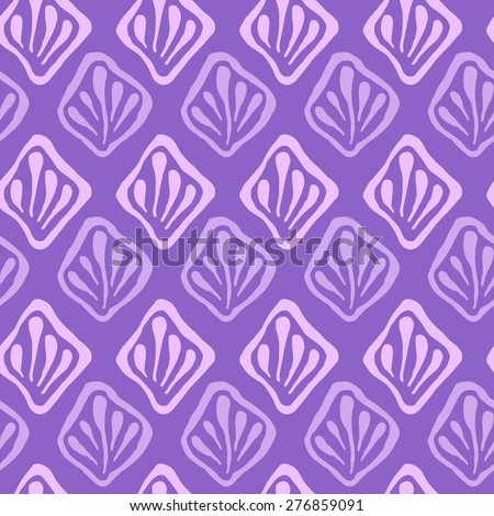 Vector creative hand-drawn abstract seamless background in lilac and violet colors - stock vector