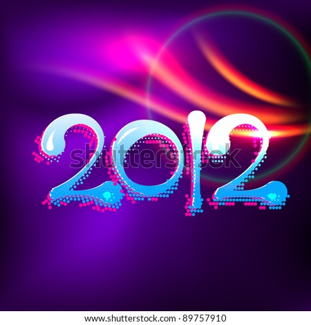 vector creative happy new year illustration