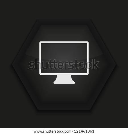 Vector creative icon on black background. Eps10 - stock vector