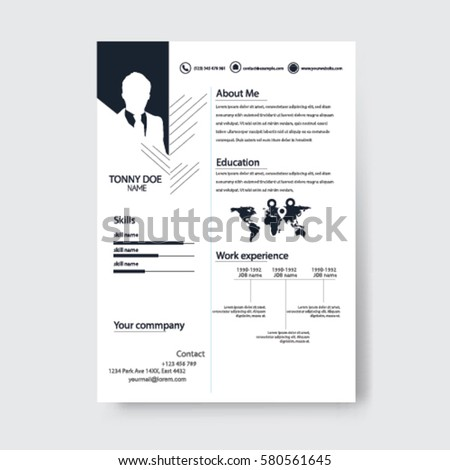 Vector Creative Minimalist Cv Resume Template .Solid And Clean Template .