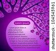 vector creative purple tree - stock photo