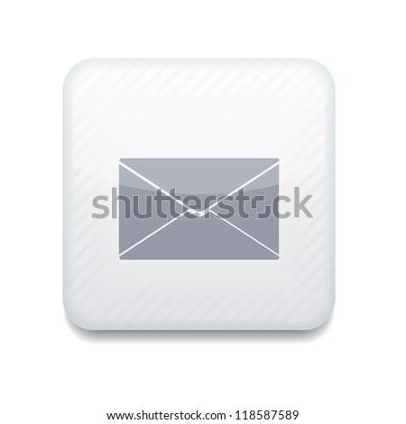 Vector creative white app icon on white background. Eps10 - stock vector