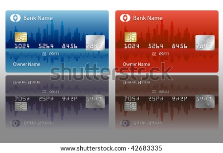 vector credit card design - stock vector