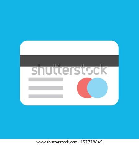 Vector Credit Card Icon - stock vector