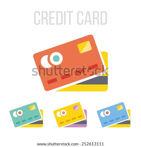 Vector credit card icons.  - stock vector