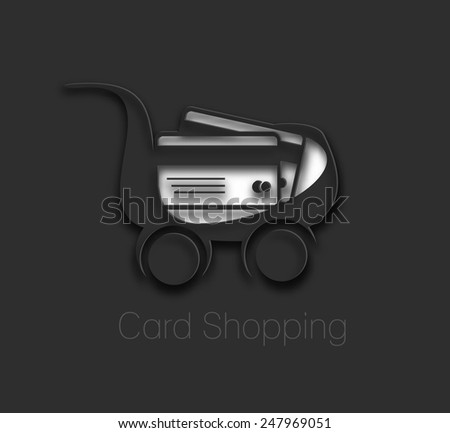 vector credit cards shopping icon design element - stock vector
