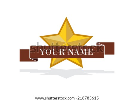 Vector crest with star - stock vector