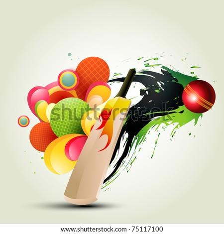 vector cricket background abstract design - stock vector