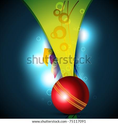 vector cricket ball beautiful background - stock vector