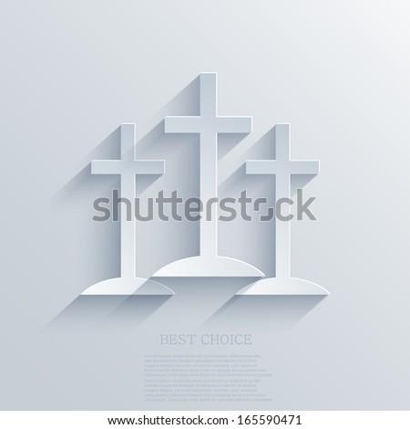 Vector cross background. Eps10 - stock vector