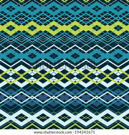 Vector cross zigzag seamless pattern. Eps10 - stock vector