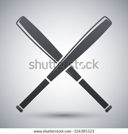 Crossed Baseball Bats Stock Images, Royalty-Free Images & Vectors ...