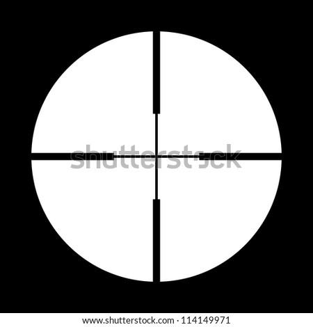 Vector crosshair - stock vector