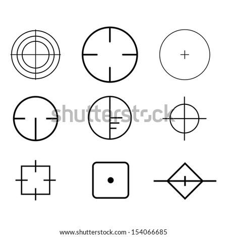 Vector Crosshairs - stock vector