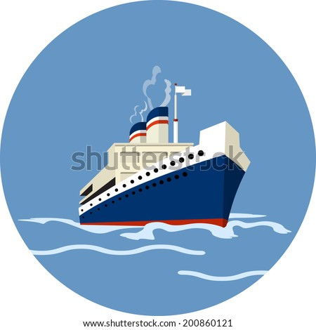 Vector Cruise Ship  - stock vector