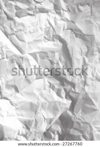 VECTOR - Crumpled paper texture - stock vector