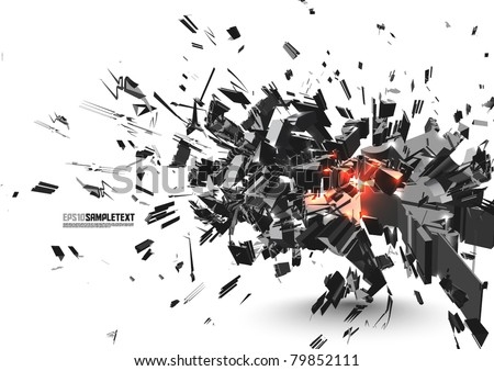 Vector Crushed Element - stock vector