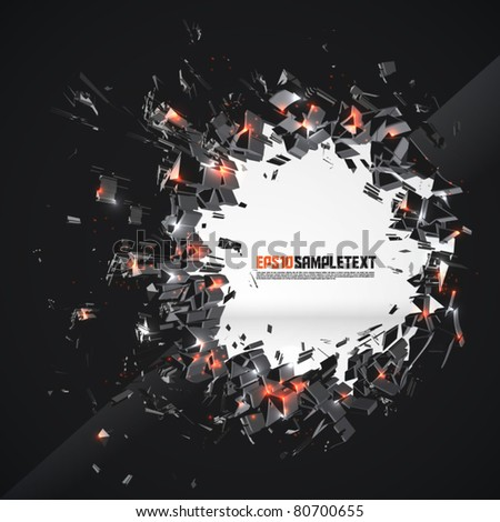 Vector Crushed Hole - stock vector