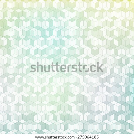 vector cube abstract background - stock vector