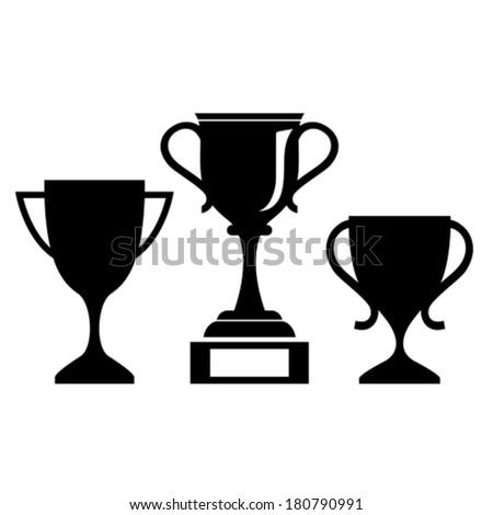 Vector cup icon - stock vector