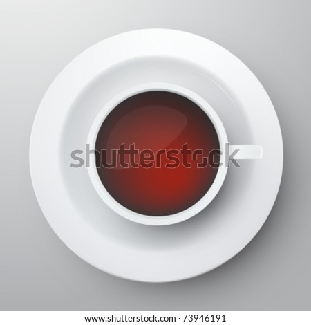 vector cup of tea - stock vector
