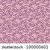 Vector curly cherry red seamless pattern - stock vector