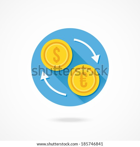 Vector Currency Exchange Icon - stock vector