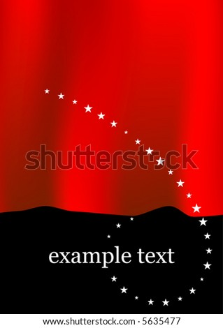 Vector Curtain Background - stock vector