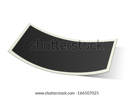 Vector curved photo frame isolated on white background - stock vector
