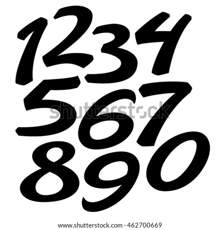 Vector custom designed elegant stencil numbers stock for Blueprint number