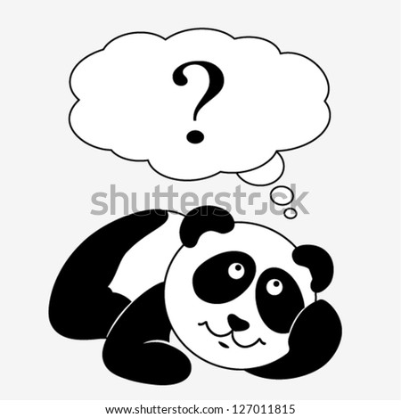 vector - cute baby panda - stock vector