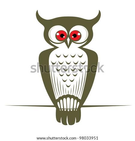 vector cute owl - stock vector