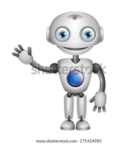 Cute Robot Logo Vector Cute Robot With Big