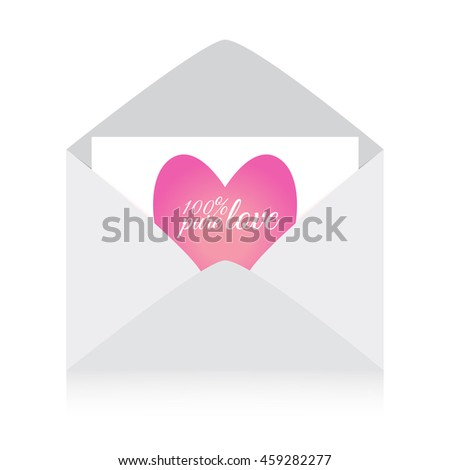 Vector Cute Romantic Message In Envelope Background Template